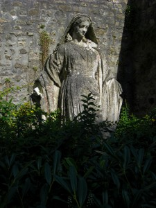 Statue in the garden, Chartres Cathedral