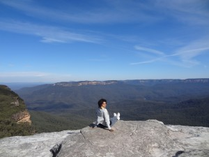 Blue mountains from view point
