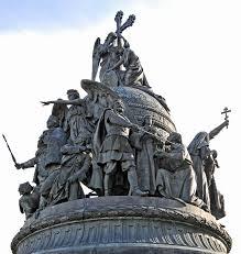 Novgorod memorial to the Viking Ryurik and the ensuing 1,000 years of Russian history