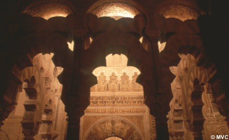 Cordoba's Mezquita as shown in the picture above is a Blend of Moorish and Christian Architecture