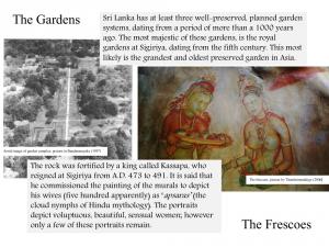 sigiriya gardens and frescos