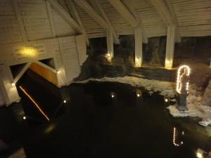 A Lake/Grotto inside the Salt Mine