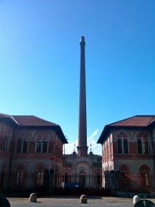 Factory entrance at Crespi d'Adda, Italy