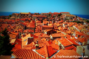 The famous red roofs of Dubrovnik