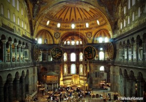 Inside the Ayasofya (Hagia Sophia)