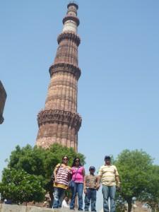 Qutb Minar with family