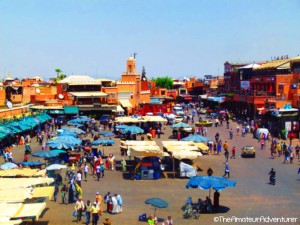 View of Jemaa el-Fna Square