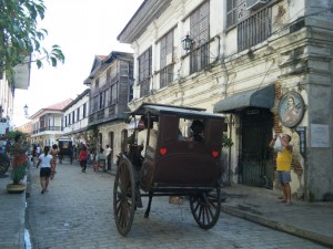 The road north leads to Vigan