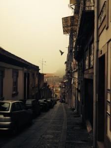 Oporto in mist