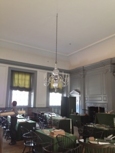 interior of independence hall