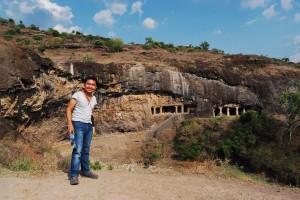 At Ellora Caves