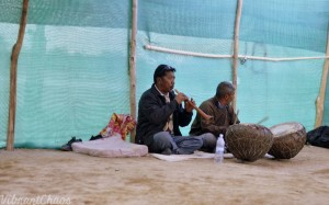 Ladakhi music - high-pitched singing to music from percussion and woodwind instruments