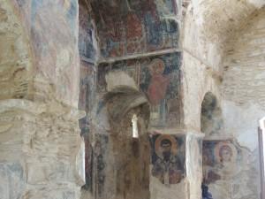 Detail of frescoes, south west angle chamber photo by Kristalia Melessanaki