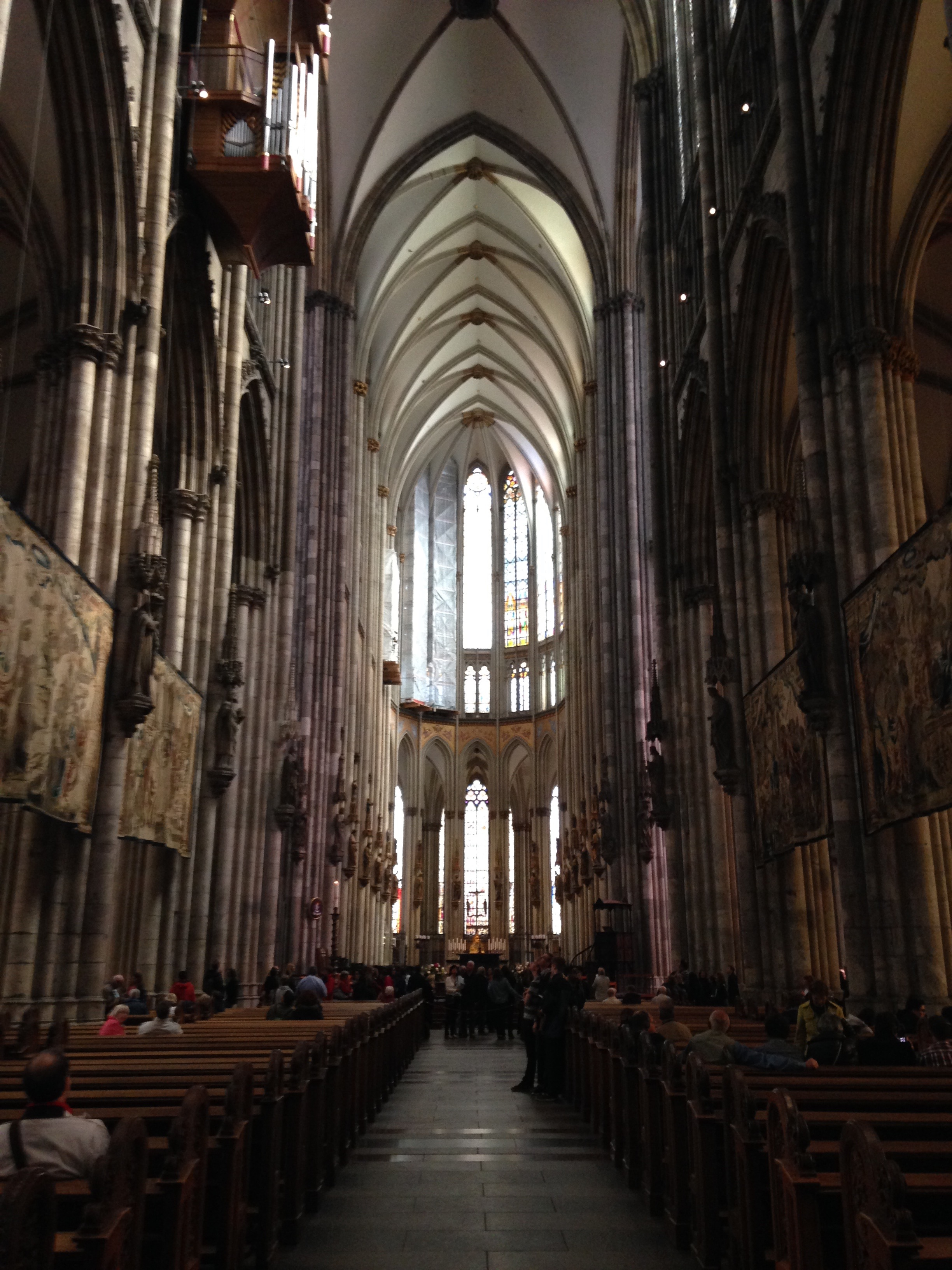 The nave of Cologne Cathedral