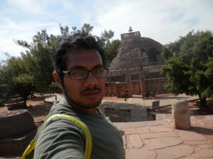 Hiking at Sanchi hill