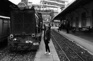 A Train climbing a height of 7500 feet at Ghum Station-Himalayan Railways