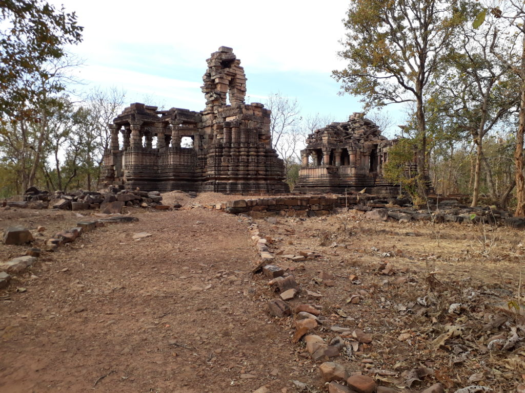 The ruined temples