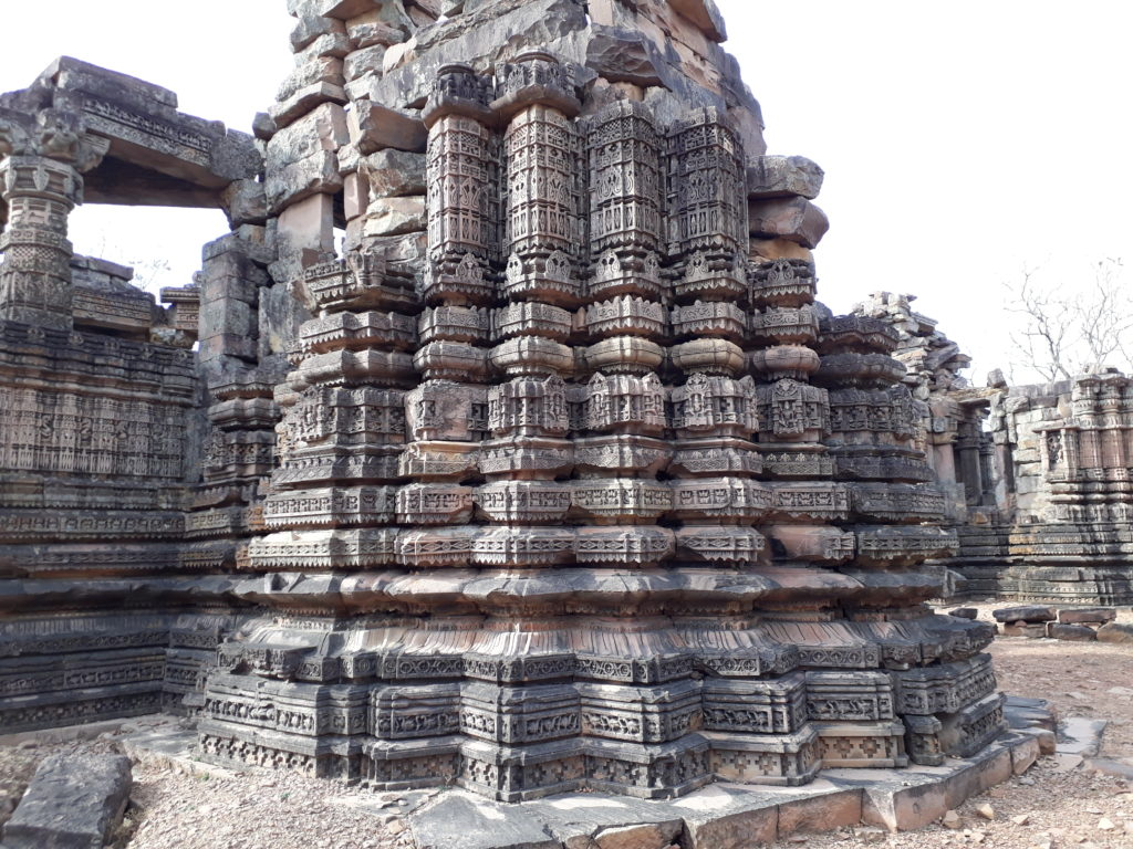 Intricate carvings on the temple walls