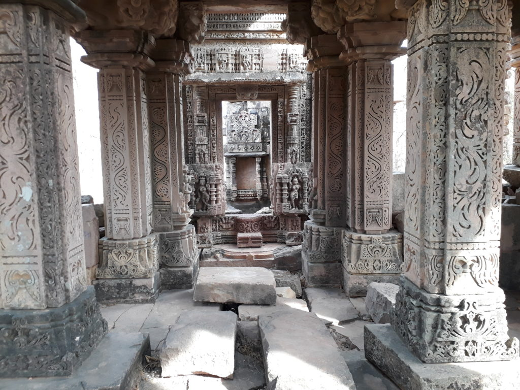 Inside the smaller temple