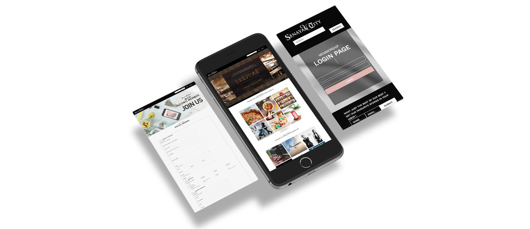 Senayan City Website by Grab Essentials