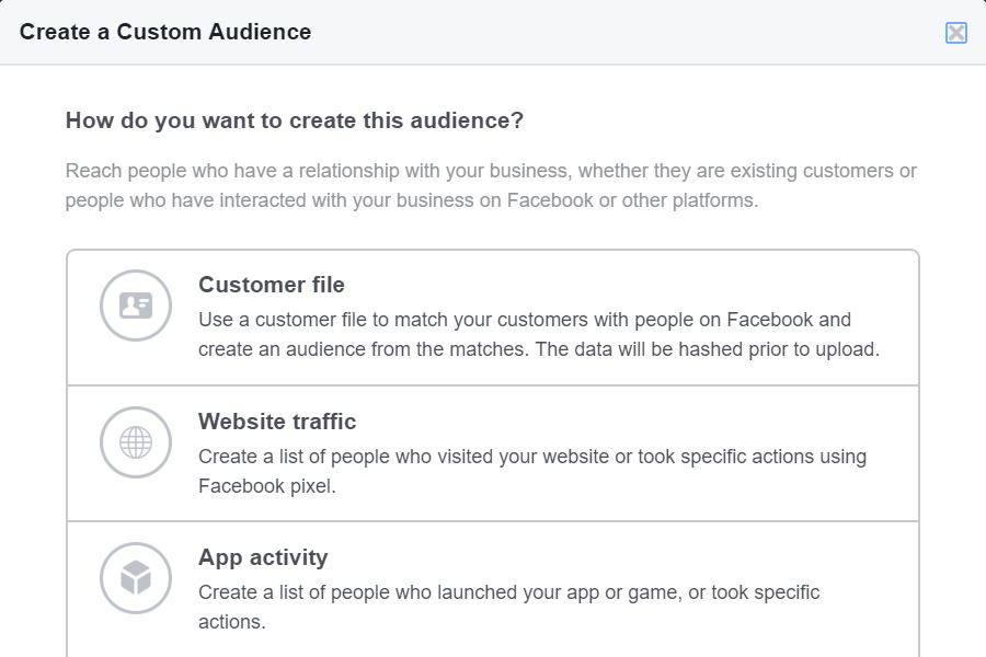Facebook Customer File
