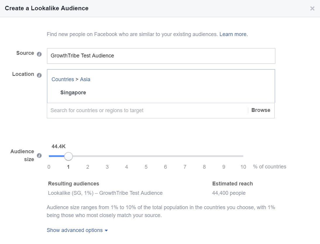 Facebook Lookalike Audience Source