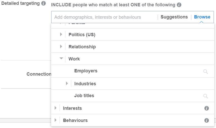 Facebook Work Targeting