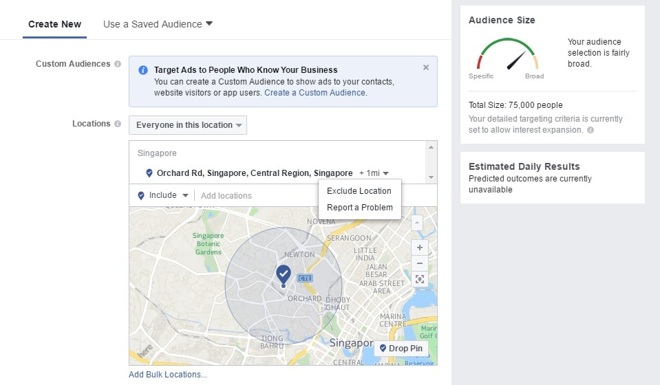 Location Specific Targeting