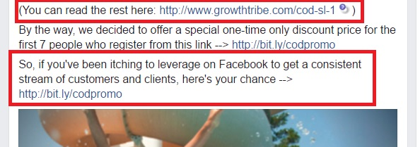Facebook Ad Multiple Call To Action Example