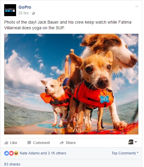 Facebook Ad Example (GoPro)