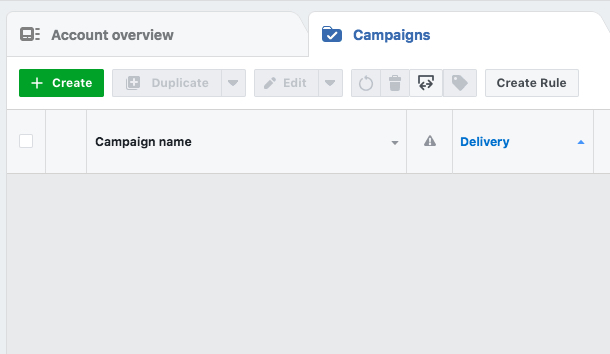 Facebook Ad Manager Create Campaign