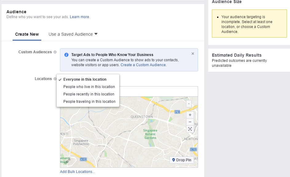 Facebook Audience Location Targeting
