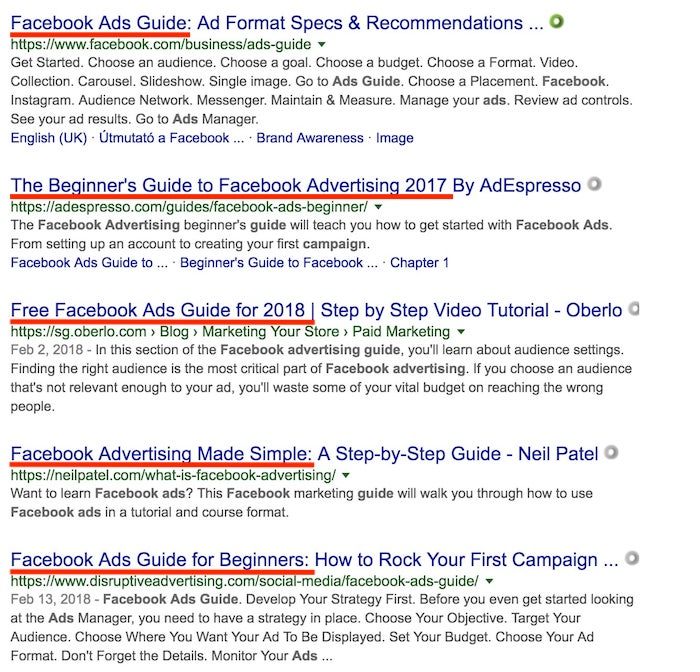 Facebook Guide On The Web