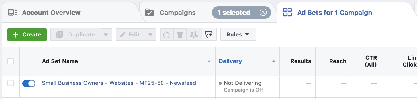 Facebook Adset Name Example