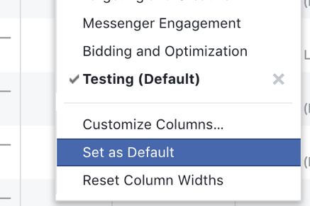 Customize Columns In Facebook Ad Manager Image 5