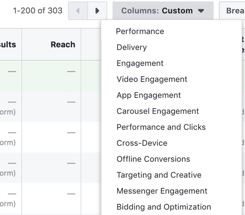 Default Report On Facebook Ad Manager