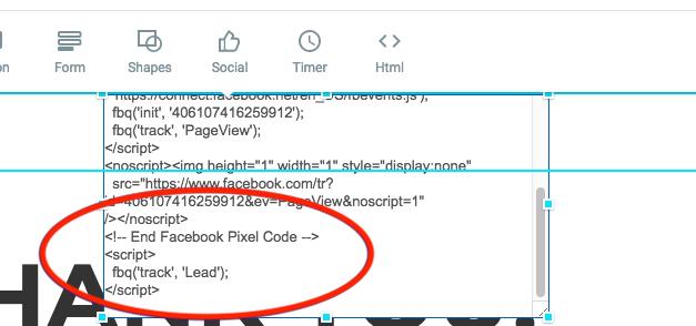 Event Code In HTML Box In Website Builder
