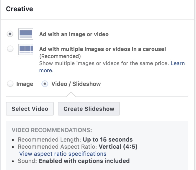 Selecting Video Slideshow On Facebook