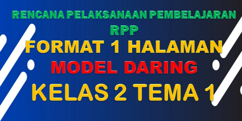 Guru Berbagi Rpp Daring Sd Kelas 2 Tema 1 Subtema 1 4
