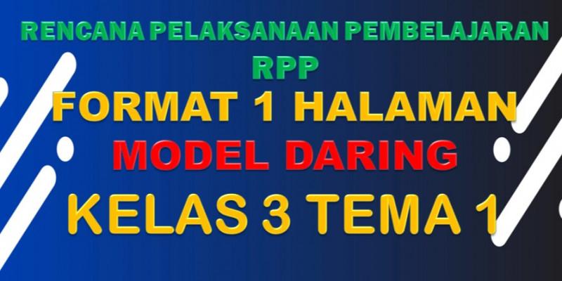Guru Berbagi Rpp Daring Sd Kelas 3 Tema 1 Subtema 1 4