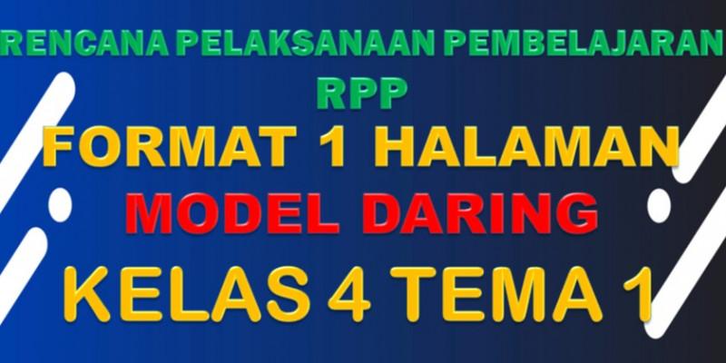 Guru Berbagi Rpp Daring Sd Kelas 4 Tema 1 Subtema 1 4