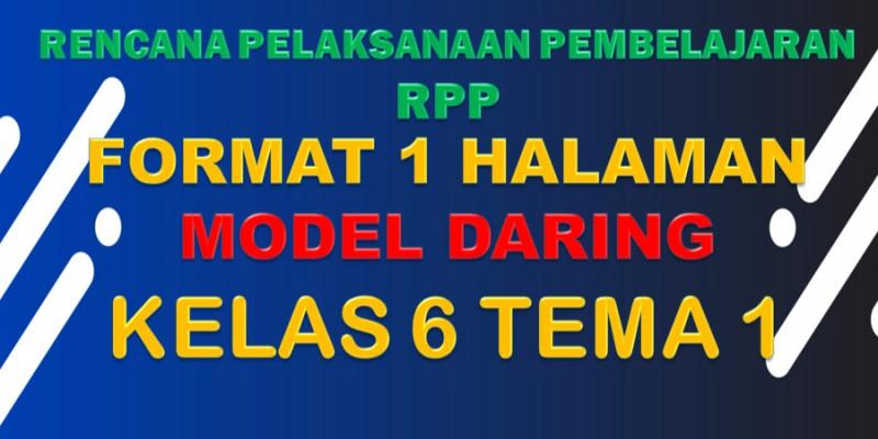 Guru Berbagi Rpp Daring Sd Kelas 6 Tema 1 Subtema 1 4