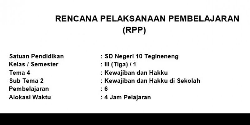 Guru Berbagi Rpp Daring Kelas 3 Tema 4 Sub Tema 2 Pb 6