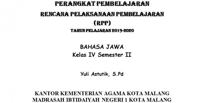 Guru Berbagi Rpp Bahasa Jawa Kelas 4 Smtr 2
