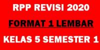 Download Download RPP Kelas 5 1 Lembar Revisi 2020