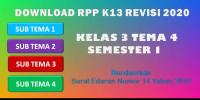 Download Download RPP Kelas 3 Tema 4 format 1…