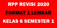 Download (lengkap) RPP Satu lembar kelas 6 Semester 1