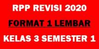 Download (lengkap) RPP Satu lembar Kelas 3 Semester 1