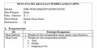 RPP daring X SMK Rumus Molekul dan Empiris