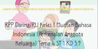 Download RPP Kelas 1 Bahasa Indonesia Tema 4 ST…